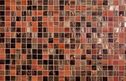 текстура красного цвета мозаики Стоковое Изображение