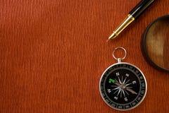 текстура красного цвета пер увеличителя чернил compas старая Стоковое Фото