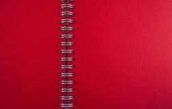 текстура красного цвета тетради Стоковое Фото