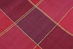 текстура красного цвета ткани Стоковое Фото