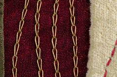 текстура красного цвета ткани Стоковое фото RF