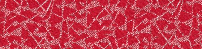 текстура красного цвета ткани Стоковая Фотография