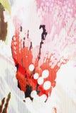 текстура красного цвета цветка ткани Стоковая Фотография RF