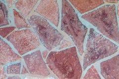 Текстура красного flagstone Стоковая Фотография