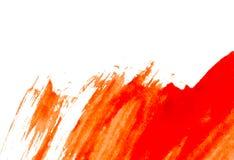 Текстура красной краски watercolour на белой бумаге желтый цвет акварели стародедовской предпосылки темный бумажный Стоковые Фото