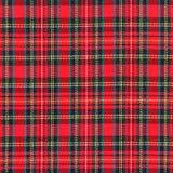Текстура красной ткани шотландки Стоковые Фотографии RF