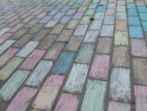 Текстура красочных плиток Стоковое Фото