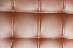 Текстура крупного плана винтажной голубой кожаной софы Стоковая Фотография