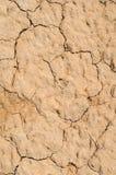 Текстура крупного плана сухой почвы и песка Стоковая Фотография