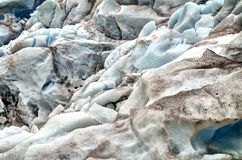 Текстура ледника Nigardsbreen стоковые изображения rf