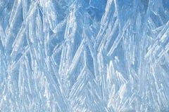 текстура льда естественная Стоковое Изображение