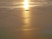 текстура льда солнечная Стоковые Фотографии RF