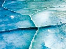 Текстура льда, холодный лед Стоковая Фотография