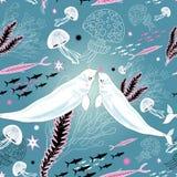 Текстура любовников белого кита иллюстрация штока