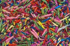 Текстура макроса карандаша точить shavings Стоковое фото RF