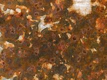 Текстура макроса - металл - ржавая краска шелушения Стоковые Изображения