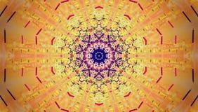 Текстура, мантра, круг, линии в много цветов Стоковое Изображение