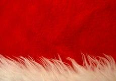 Текстура материала шляпы рождества Стоковая Фотография RF