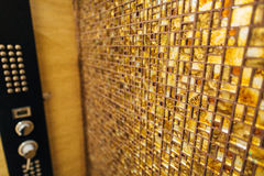 Текстура малой мозаики плитки коричнева с sparkles внутри Стоковое фото RF