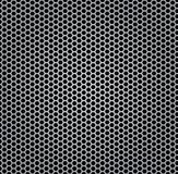 текстура металла крома изолированная решеткой Стоковая Фотография