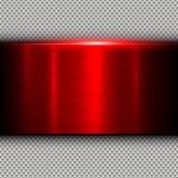 Текстура металла предпосылки красная Стоковые Фото