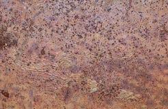 Текстура металла Брайна ржавая Стоковые Фотографии RF