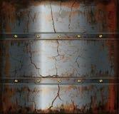 Текстура металла предпосылки ржавая Стоковая Фотография RF