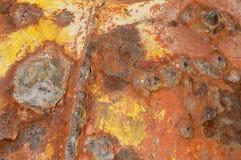 текстура металла предпосылки ржавая Стоковая Фотография