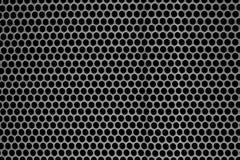 Текстура металла с отверстиями польза текстуры диктора решетки предпосылки Стоковые Изображения RF