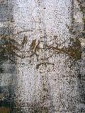Текстура металла с отказами grunge Треснутая краска на поверхности металла Городская предпосылка с переходами грубой краски Стоковое фото RF