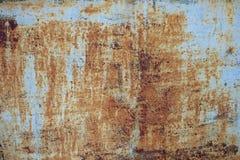 Текстура металла Grunge ржавая с серой краской Стоковые Фото