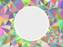 Текстура мозаики конспекта пестротканая полигональная Иллюстрация вектора со способностью к верхнему слою изолированная checkered иллюстрация вектора