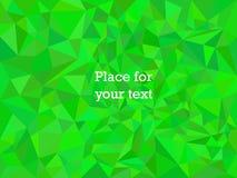 Текстура мозаики полигона конспекта геометрическая и зеленый цвет с подтекстами Иллюстрация предпосылки вектора бесплатная иллюстрация