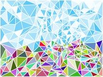 Текстура мозаики полигона конспекта геометрическая Покрашенные треугольники r ( иллюстрация вектора
