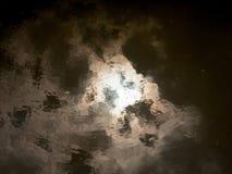 Текстура неба абстрактной и неясной воды поверхностная отражая Стоковые Изображения RF