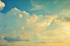 Текстура неба бумажная Стоковое Изображение RF