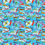 текстура неба мухы eps аэроплана безшовная Стоковые Фото