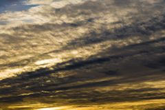текстура неба небес вечера Стоковое фото RF