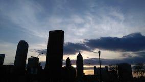 текстура неба небес вечера стоковые фото
