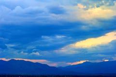 текстура неба небес вечера Стоковые Изображения RF
