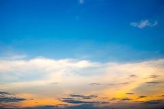 текстура неба небес вечера Стоковое Фото