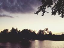 текстура неба небес вечера Стоковые Фотографии RF