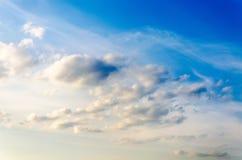 Текстура неба с облаками Стоковая Фотография RF