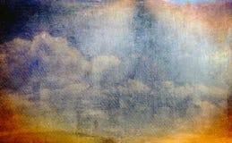 Текстура неба Grunge Стоковые Фото