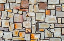 Текстура дня камня загородки стены цемента Стоковая Фотография