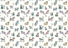 Текстура домашней кошки Lyin и sittin в различных представлениях Стоковое Изображение