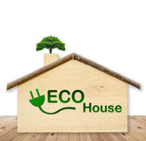 текстура дома eco конструкции принципиальной схемы Стоковое Изображение