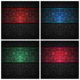 текстура орнамента ткани цвета установленная тесемками Стоковые Изображения