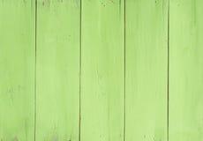 Текстура доски Painted зеленой деревянной Стоковые Изображения
