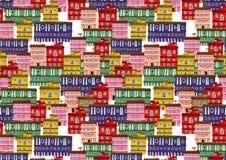 Текстура от домов города Стоковые Изображения